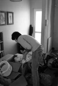 Sorting through boxes of baby things. sigh.