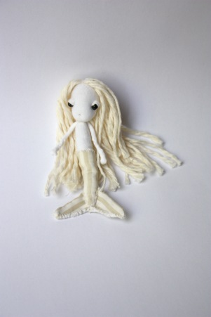 Mermaid doll brooch